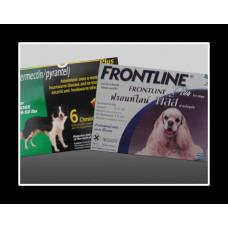 ハートガードプラス中型犬用(11-22kg)1箱6個入り、フロントラインプラス中型犬用(10-20kg以下)6本お得セット
