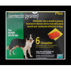ハートガードプラス中型犬用(12-22kg)6個入り/Heartgard Plus Med Dogs 6 pack